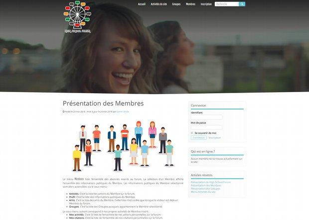High School Forum - Présentation des membres